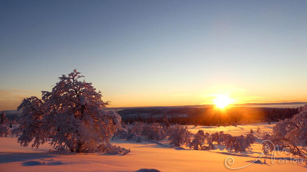 Blick vom Nipjäll in die norwegischen Berge