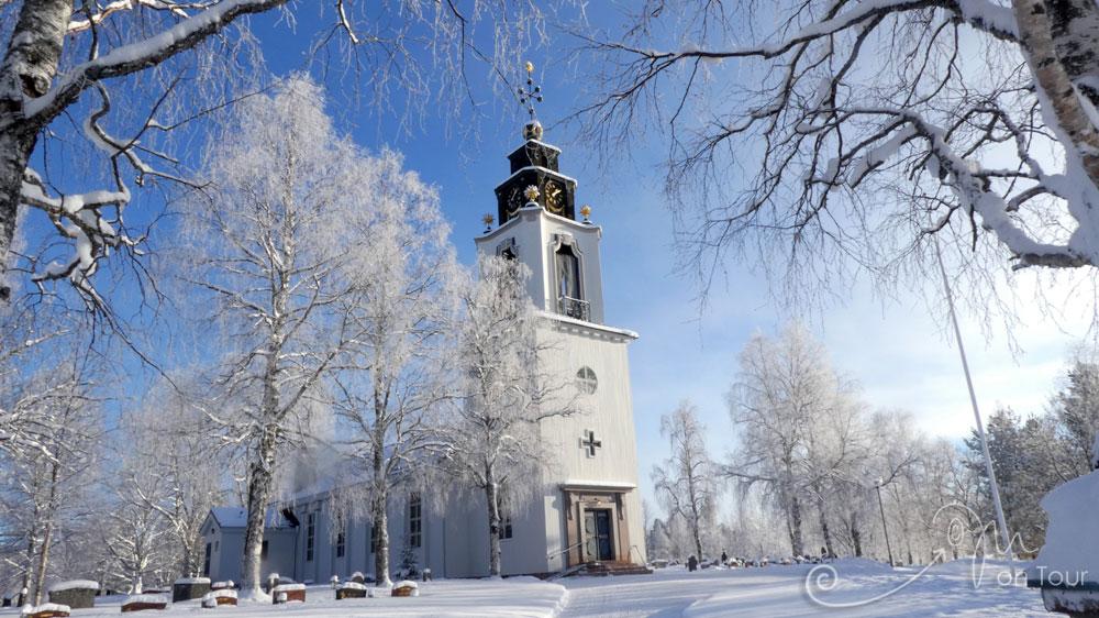 Idre Kyrka - Idres protestantische Kirche - Innen wie außen unbedingt einen Besuch wert