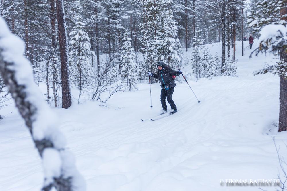 Heute bin ich ganz aufs Ski fahren konzentriert - Nicht schön, aber wenigstens heil die Berge runter gekommen. Foto: Thomas Rathay