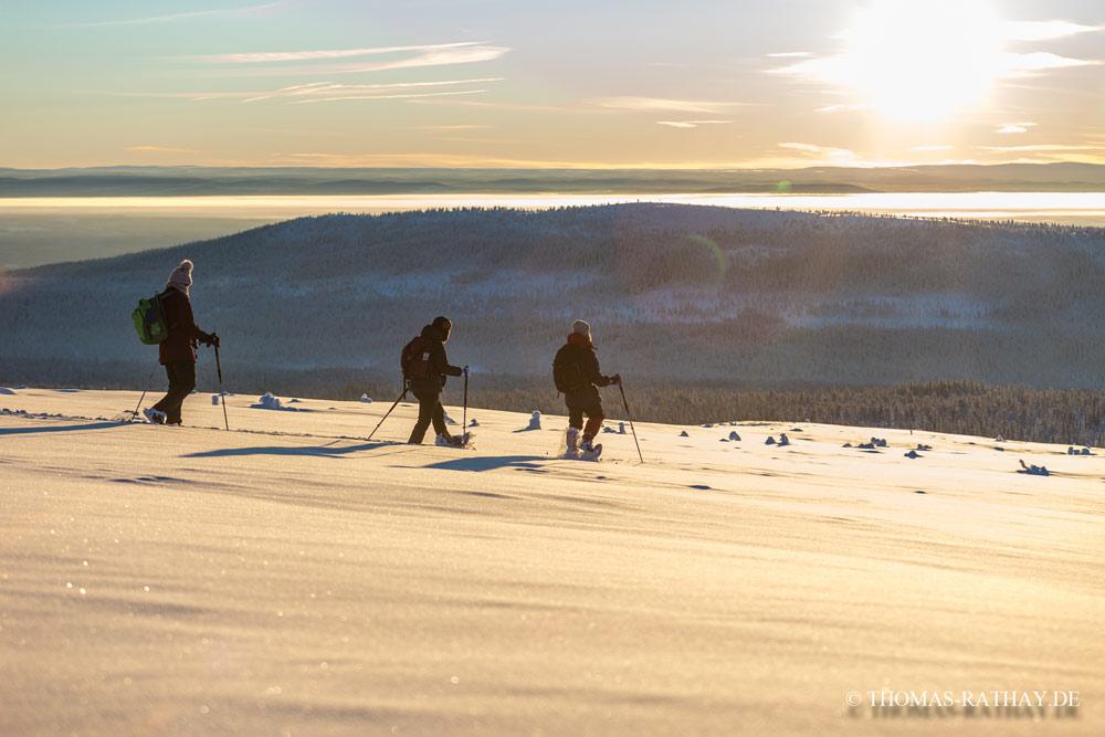 Mit Schneeschuhen über das Nipfjäll. Foto: Thomas Rathay